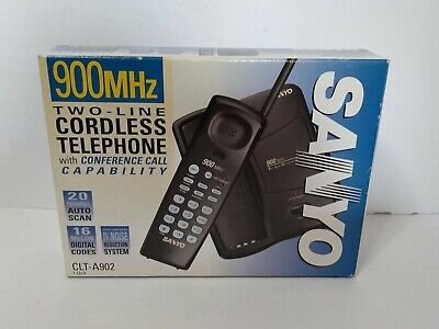 - SANYO 900MHZ CLT-A902 Two Line Cordless Phone 20 Channel Autoscan