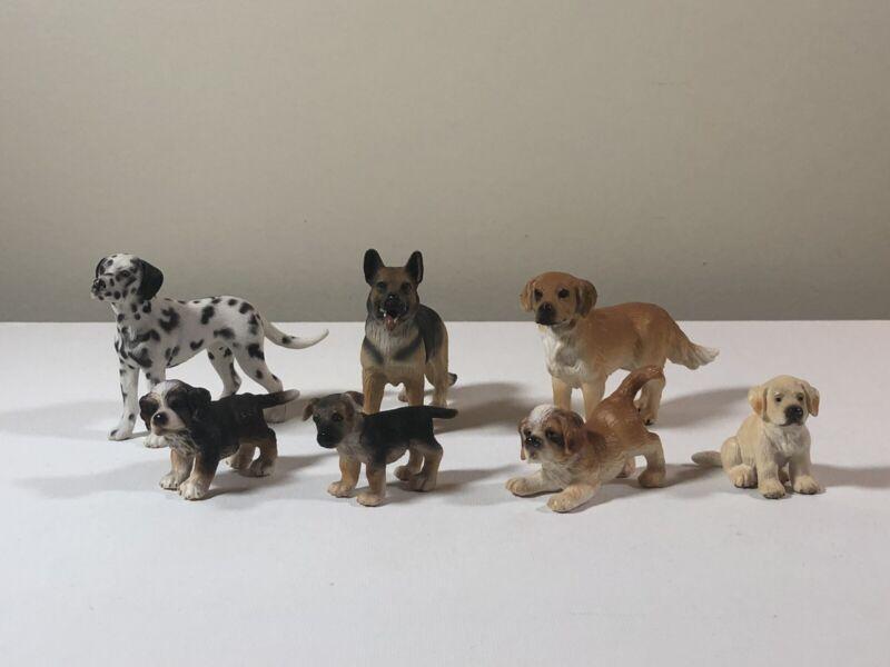 Schleich Dogs - Lot Of 7 Dalmatian, Lab, Golden Retriever, German Shepherds ++