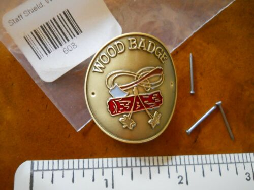 BOY SCOUTS OF AMERICA WOOD BADGE HIKING STAFF MEDALLION (NEW IN PACK)
