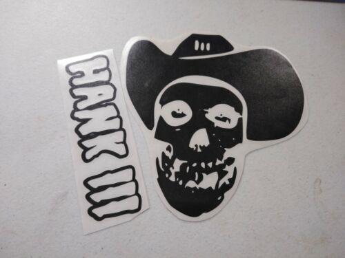 Misfits Hank Williams III decal sticker