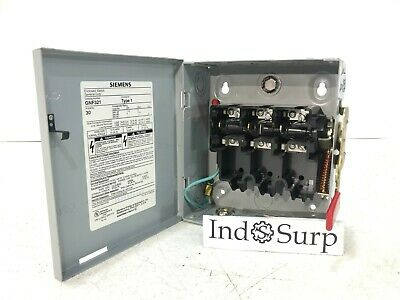 Siemens Enclosed Switchdisconnect 30 Amp 240 Volt Type 1 Un-fused