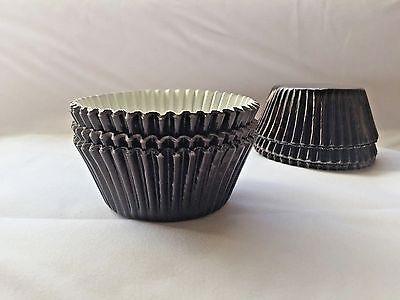 Black Foil baking Cupcake liners - Black Cupcake Liners