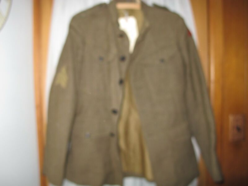 WW1 US Army Wool Service coat 1907 Pattern Enlisted Armored Unit Service Wound