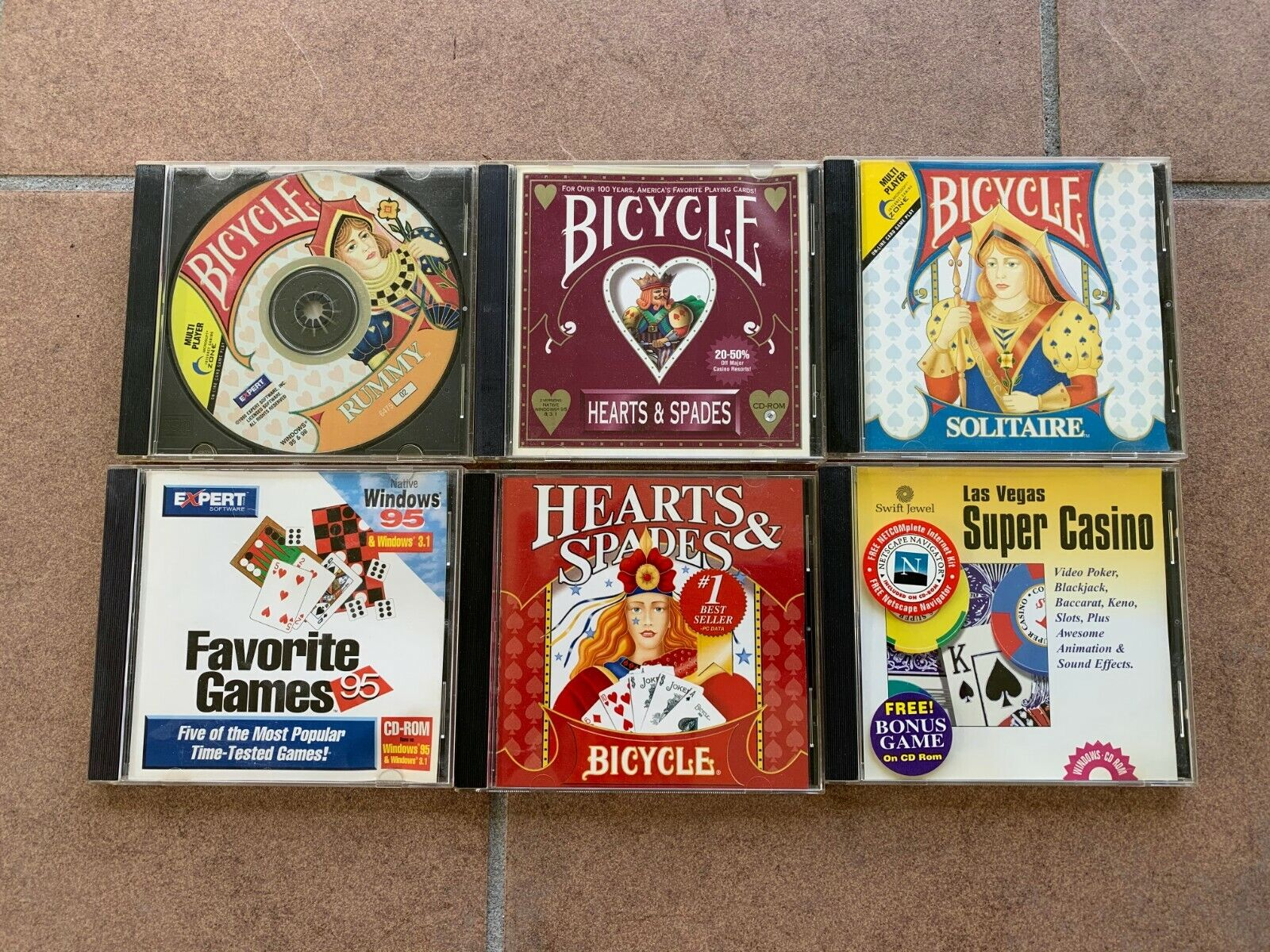 Computer Games - Wholesale Vintage Lot Of 6 GAMES PC Computer CD Rom -Windows 95 98