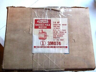 Dayton 3m074 16 Hp Shaded Pole Motor 1000 Rpm 115 Volts New In Original Box