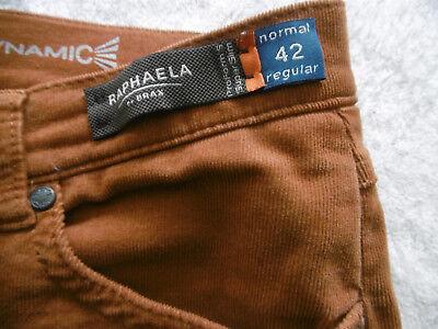 Babycord-Jeans 5-Pocket  Gr 42 superslim von RAPHAELA by Brax  ocker-braun neuw. 5-pocket Cord-jeans