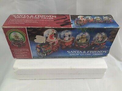 "Train - Vintage ""Santa And Friends Snow Globe Train"" with box!! Christmas Decor"