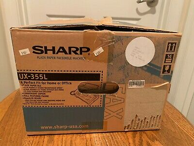 Sharp Ux-355l Plain Paper Facsimile Machine New Open Box