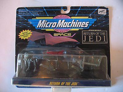 New MOC Sealed STAR WARS Micro Machines ROTJ Logo AT-ST Jabba Barge B-Wing Set 2