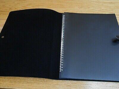 Black Presentation Portfolio With 14 Plastic Sleeves And Metal Clasp