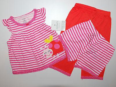 Carter's~USA~92-98~Schlafanzug~Pyjama~3 tlg~Marienkäfer~Nachtwäsche~Mädchen~neu