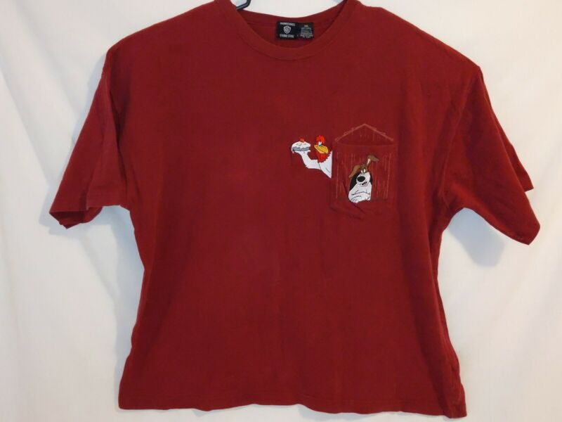 Vintage 90s Warner Brothers Foghorn Leghorn Embroidered T-shirt XXL