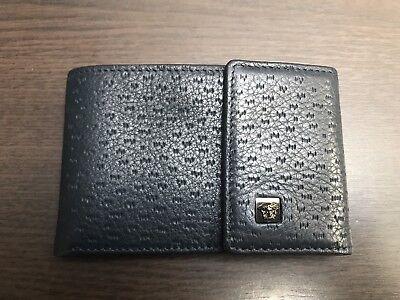 Authentic Versace Men's Leather Wallet OSTRICH MEDUSA