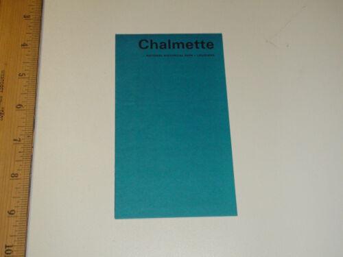 Vintage 1973 Chalmette National Historical Park Louisiana Brochure Pamphlet - VG