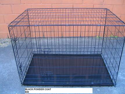 NEW JUMBO Collapsible Metal Dog Puppy Cage Crate with METAL TRAY