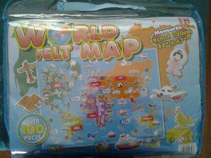 World felt map toys indoor gumtree australia maroochydore area felt world map gumiabroncs Images