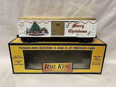 ✅MTH RAILKING 1996 CHRISTMAS BOX CAR RK-7410L! FOR O GAUGE TRAIN SET HOLIDAY