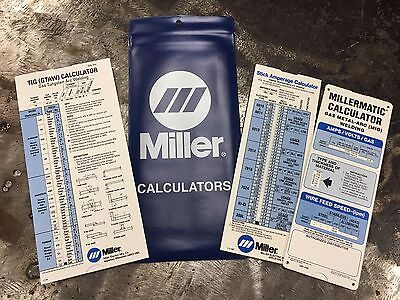 Miller Electric Millermatic Calculator Gas Metal Mig Tig Stick 043125 Free Ship