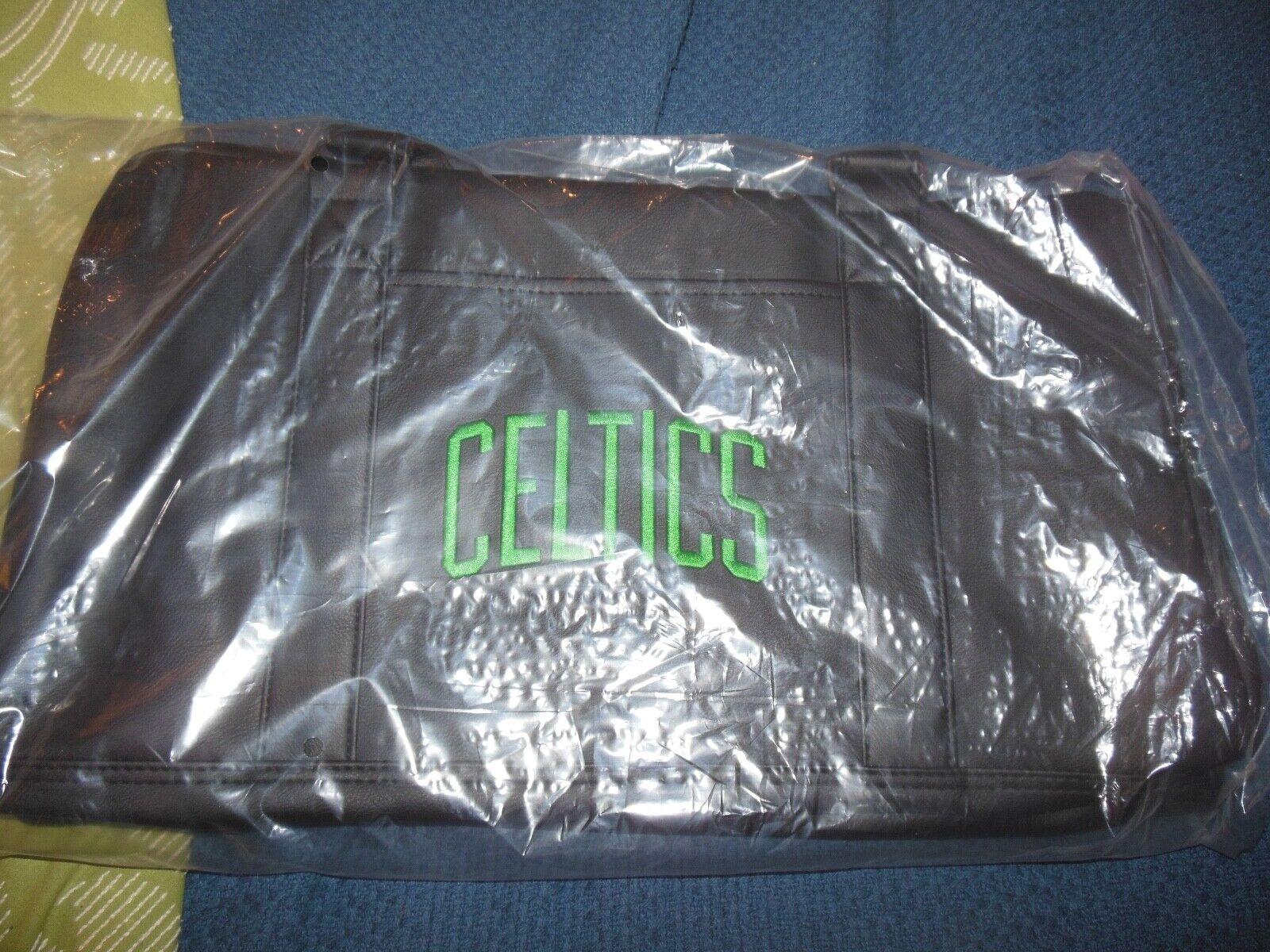 Boston Celtics Official Duffel Gym Bag Faux Leather NEW!!