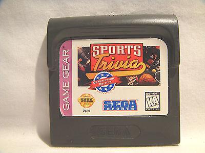 Sports Trivia - Sega Game Gear - cartridge only