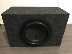 american bass xr10 10 inch subwoofer in sealed enclosure