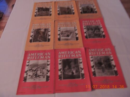 1932 American Rifleman Magazine lot of 9 outdoor life, field and stream