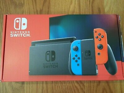 New Nintendo Switch Console with Neon Red & Blue Joy-Cons HADSKABAA 32GB V2,