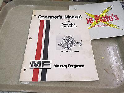 Massey-ferguson Manual Assembly Instructions Mf 129 Chisel Plow