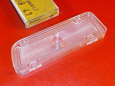 NOS GM 1967 Chevrolet Biscayne RH back up lamp lens 5958536 Delco Guide