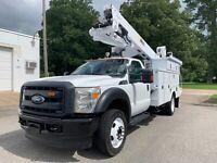 2013 Ford F-550 Bucket BOOM truck, 45FT Altec MATERIAL HANDLER, 99k miles, 4X4
