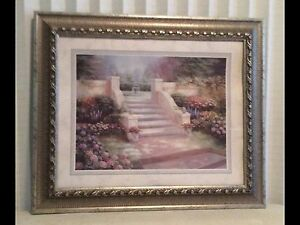 Luxurious rich wall decor art picture. With fancy frame.