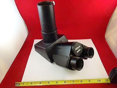 Microscope Part Nikon Japan Trinocular Head Optics As Is Bin73-04