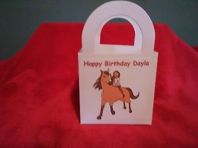 Spirit Riding Free Personalized Birthday Party pack 12 Favor Boxes/bag (Personalized Party Favor Bags)