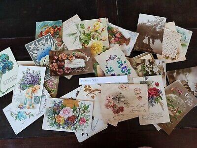 CPA - Carte postale - Lot de 50 cartes postales - Fantaisies - Fleurs et Autres