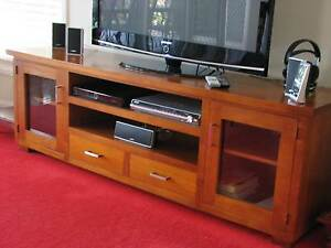 Solid pine timber  entertainment unit Beaumont Hills The Hills District Preview