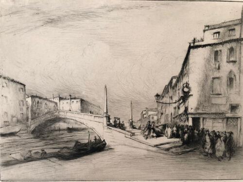 Radierung Venedig / Venice Edgar Chahine Signiert