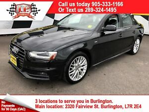 2015 Audi A4 Komfort Plus, S-Line, Leather, Sunroof, AWD