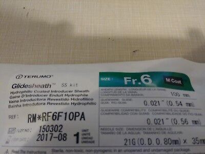 Terumo Rm Rf6f10pa Glidesheath Introducer 6fr M Coat 100mm 21gx35mm Ss Kit Vet