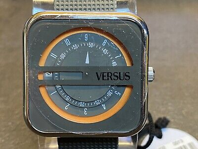 Versus Versace SGH020013 Kyoto Square Case Jump Hour Quartz Watch NEW OLD STOCK