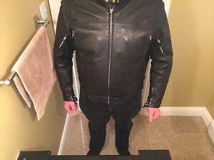 3xl Leather Jacket and chaps