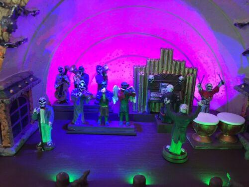 Lemax Symphony of Screams Halloween Village Sights & Sounds Skeleton Concert NIB