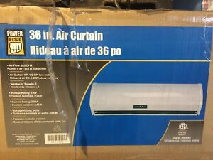 Air curtain or really strong blower/ fan.