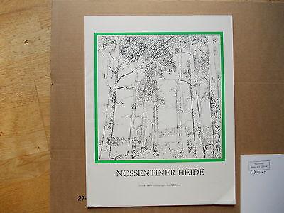 """Graphikmappe """"NOSSENTINER HEIDE"""" 35x45 cm - Mecklbg. von S. Dittner/Malchow 1985"""