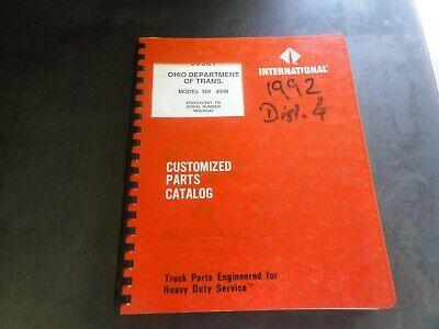 International Model 4900 Customized Parts Catalog Manual  Nh439540