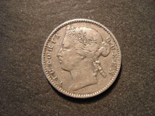 1883 Straits Settlements 10 Cents  Key Date