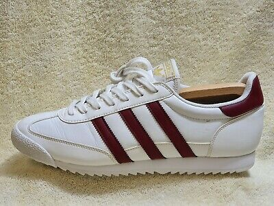Adidas Dragon Originals mens trainers Leather White/Burgundy UK 10 EUR 45