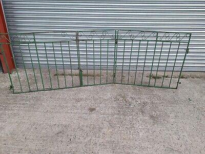Metal driveway gates used