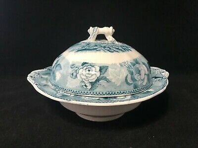 Vintage Wedgwood Small Round Covered Vegetable Serving Bowl/Dish In Landscape