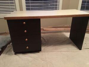 Custom built wood desk
