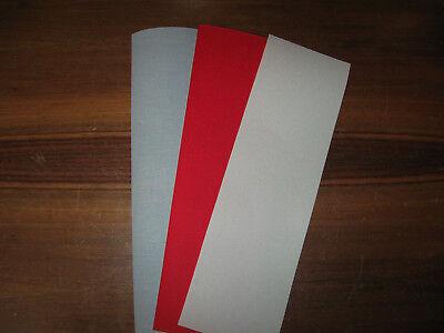 Div. Bucheinbandgewebe ca 33,5 X 100 cm 3 Farben Kaliko